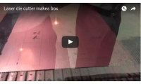 Video Laser die cutter makes box